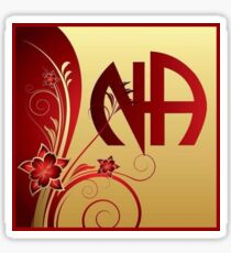 Narcotics Anonymous ~ Florals and Vampy Red Sticker