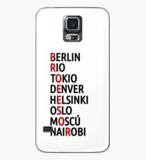 La Casa de Papel Names of Cities Case/Skin for Samsung Galaxy