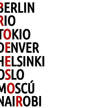 La Casa de Papel Names of Cities by MaginStudios
