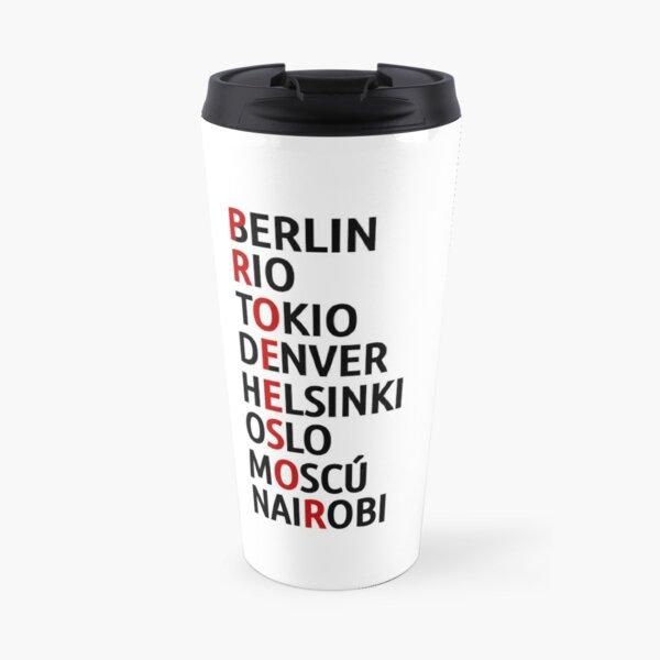 La Casa de Papel Noms des Villes Mug isotherme