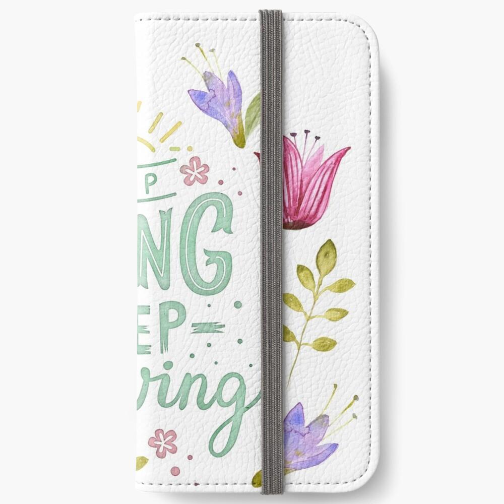 Keep Going Keep Growing iPhone Flip-Case