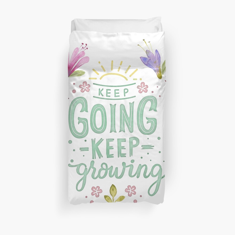 Keep Going Keep Growing Bettbezug