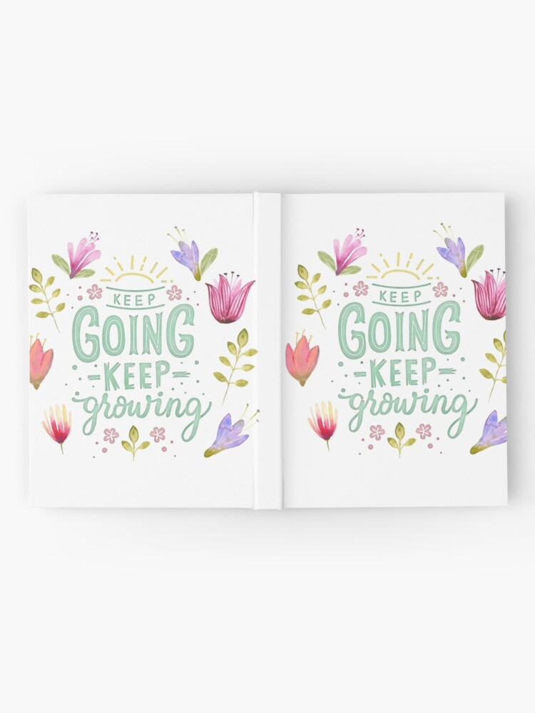 Alternative Ansicht von Keep Going Keep Growing Notizbuch