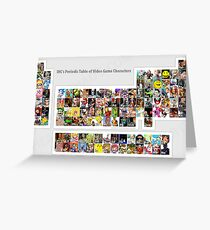 Periodic Table of Video Game Characters Greeting Card