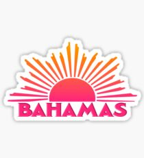 Pegatina BAHAMAS Souvenir Travel Gift Bright Ombre Sun