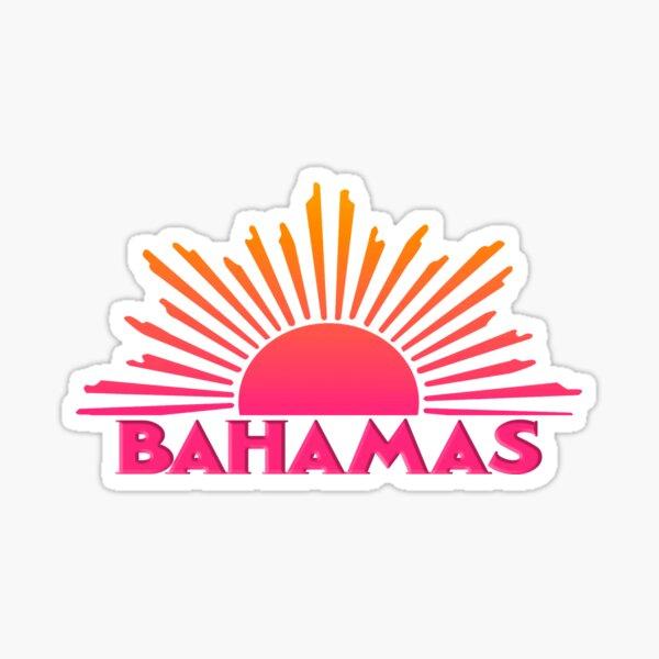 BAHAMAS Souvenir Travel Gift Bright Ombre Sun Sticker