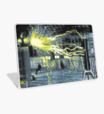 Nikola Tesla Sitting In His Experimental Station Reimagined 4 Laptop Skin