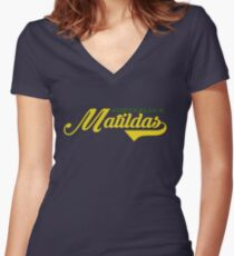 Matildas Women's Fitted V-Neck T-Shirt