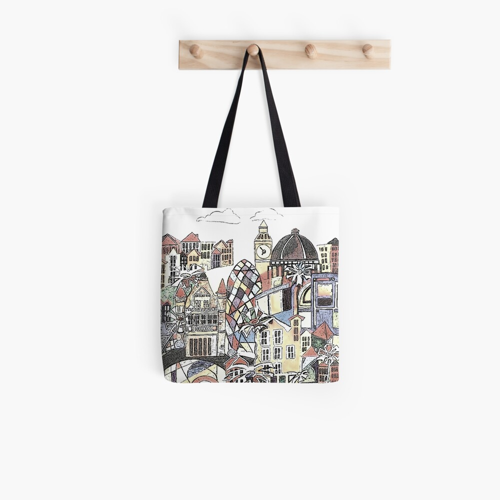 London blooms cityscape Tote Bag