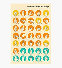 AMERICAN SIGN LANGUAGE HAND ALPHABET Photographic Print