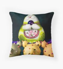 Before The Golden Statue Throw Pillow