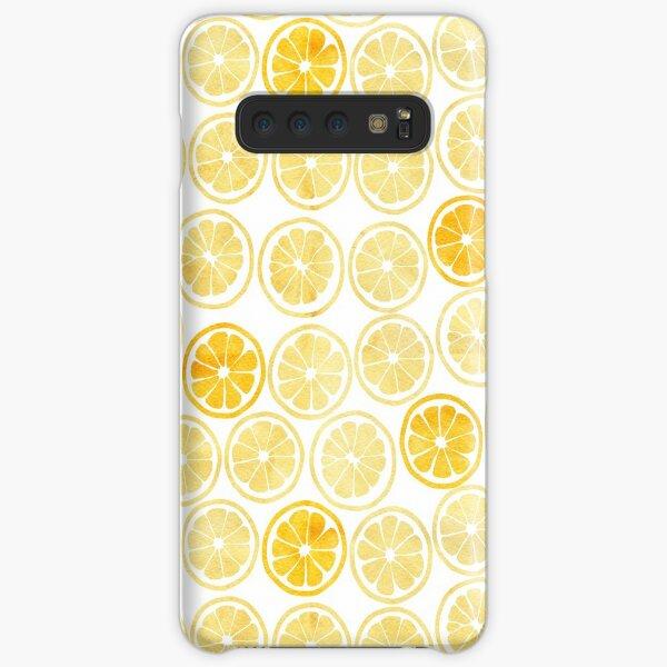 Yellow Watercolor Lemon Slices Pattern Samsung Galaxy Snap Case