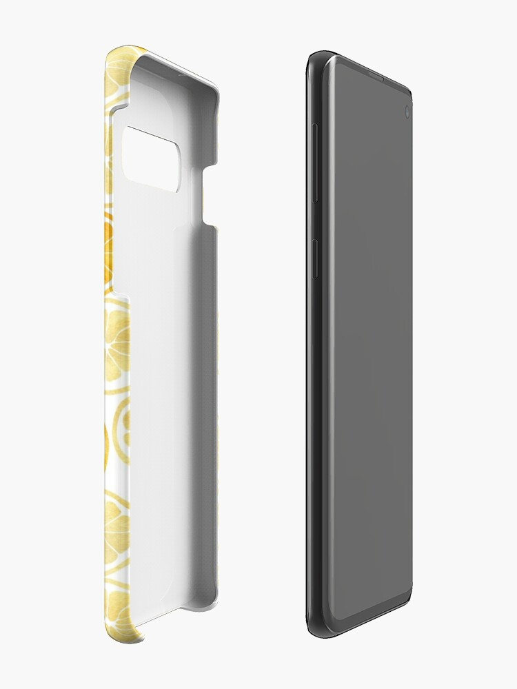 Alternate view of Yellow Watercolor Lemon Slices Pattern Case & Skin for Samsung Galaxy