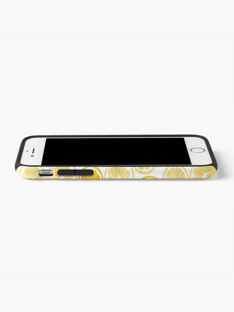 Alternate view of Yellow Watercolor Lemon Slices Pattern iPhone Case & Cover