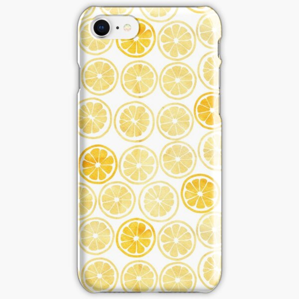 Yellow Watercolor Lemon Slices Pattern iPhone Snap Case