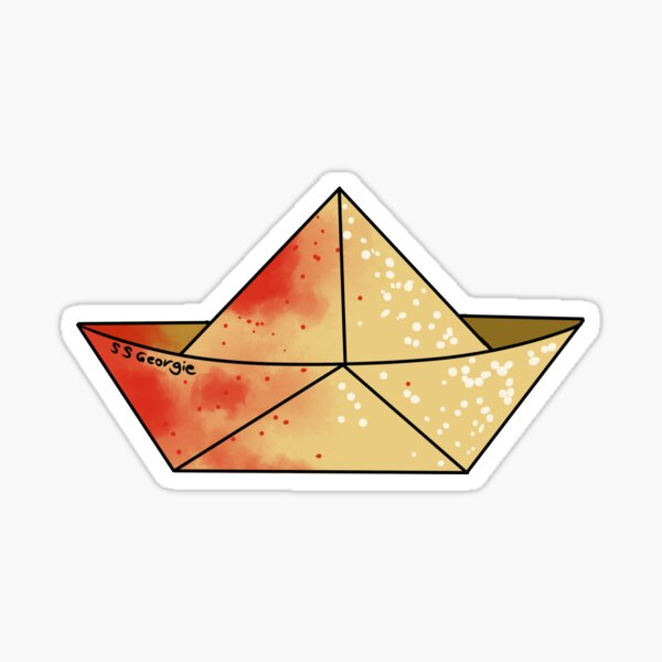 """IT"" Georgie Denbrough's Paper Boat Sticker"