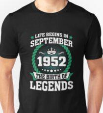 September 1952 The Birth Of Legends Unisex T-Shirt