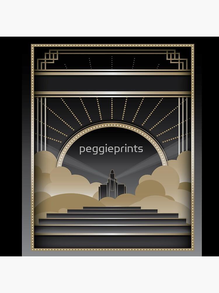 Art deco design V by peggieprints