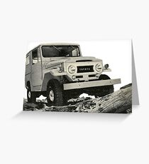 The Mighty Toyota Landcruiser Greeting Card