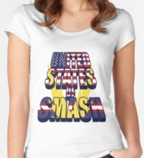 United States of Smash Women's Fitted Scoop T-Shirt