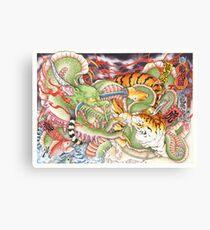 Tigers vs Dragons Canvas Print
