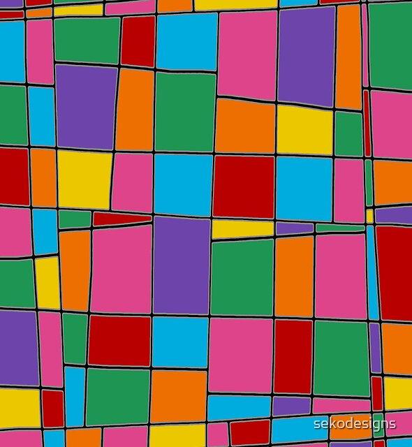 Retro Art - Vivid Colour #11 by sekodesigns