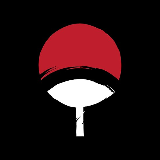 uchiha clan logo posters by nycth redbubble