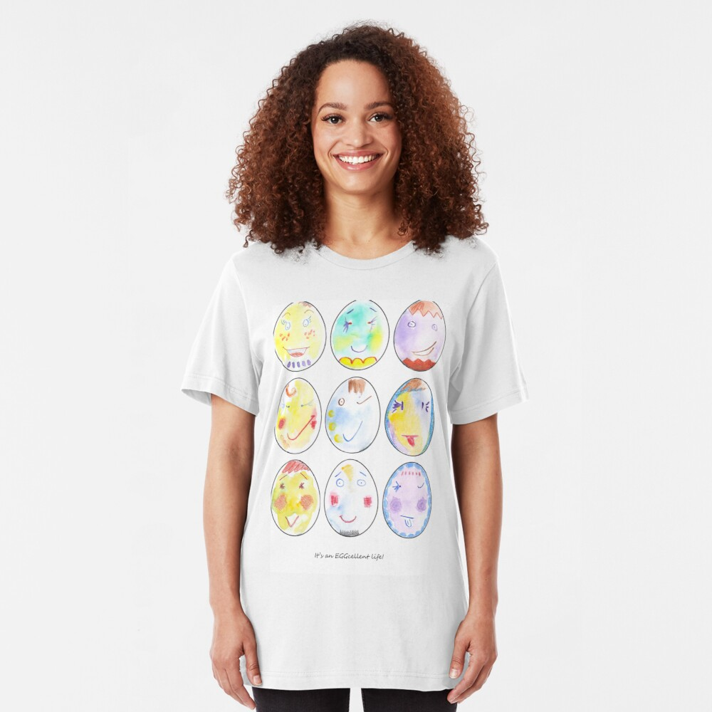 It's an EGGcellent life! Slim Fit T-Shirt