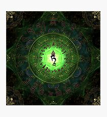 Green Tara Mantra- Protection from dangers and suffering. Photographic Print