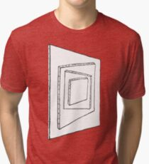 Canvas Painting on Painting Illusion Tri-blend T-Shirt