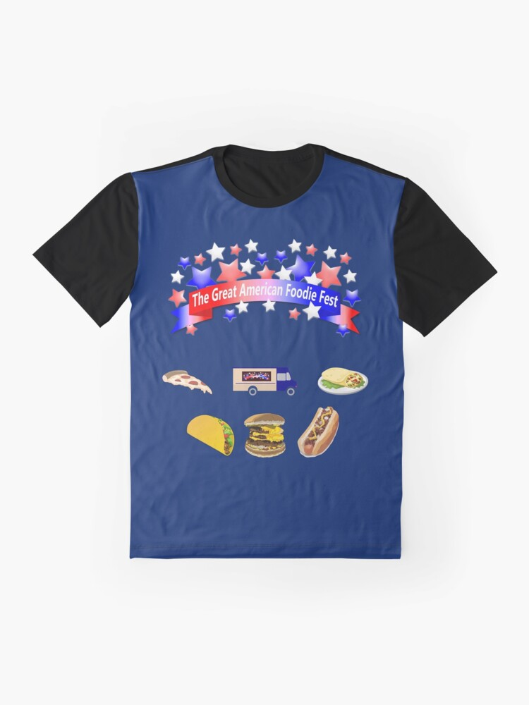 Alternate view of The Great American Foodie Fest Graphic T-Shirt