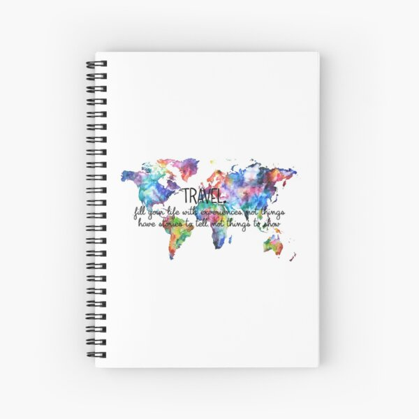 Travel experiences Spiral Notebook