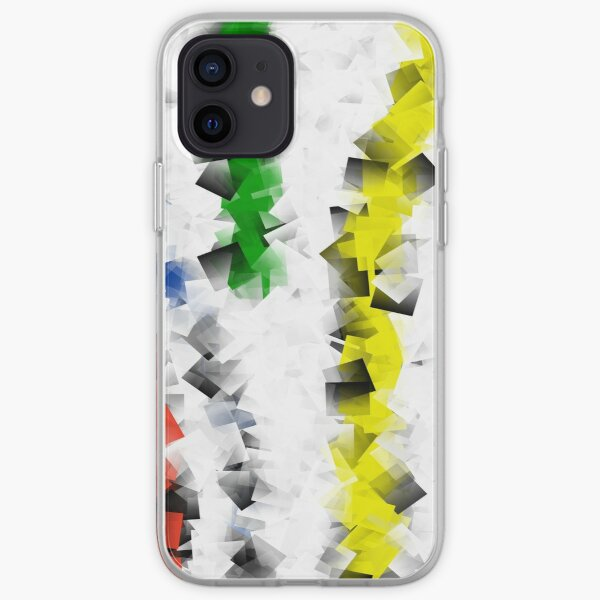 Colored Square Lines iPhone Soft Case