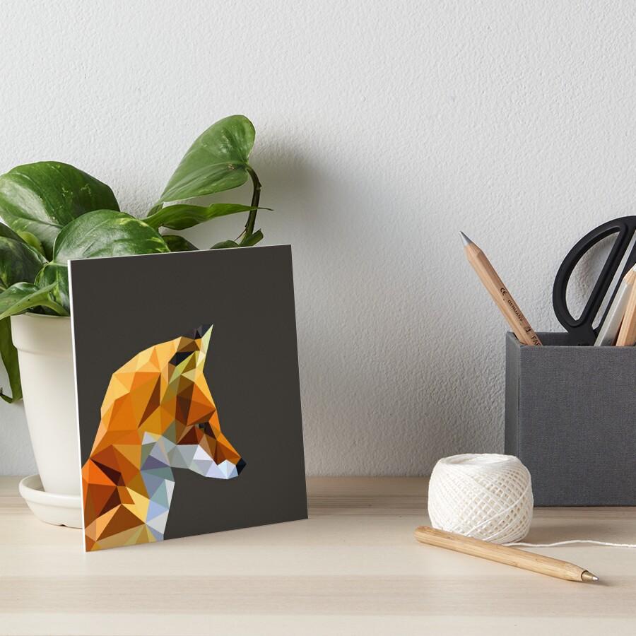 LP Fox Art Board Print