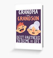 Grandma Grandson Partners In Crime Nana Grandmother Greeting Card