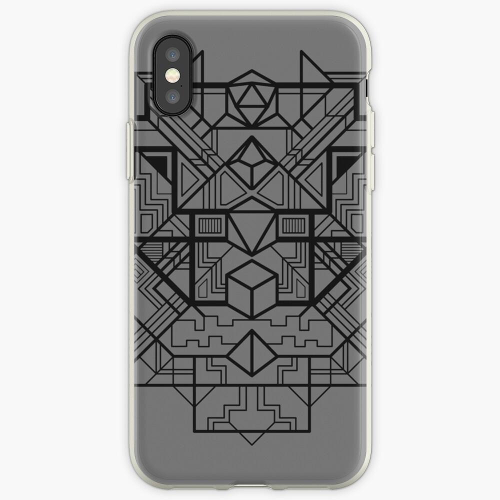 Würfel Deco Schwarz iPhone-Hülle & Cover