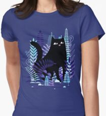 The Ferns (Black Cat Version) Women's Fitted T-Shirt