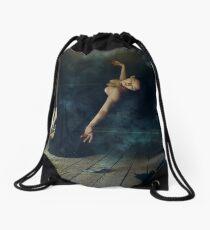 Into the Night Drawstring Bag