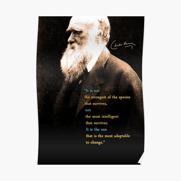 Charles Darwin Quote 3 Poster