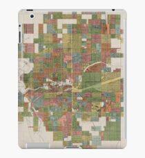 Vintage Karte von Spokane WA (1910) iPad-Hülle & Klebefolie