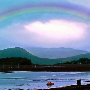 Boats Under A Rainbow, Lochcarron by Rosh