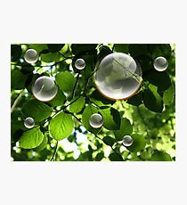 Bulles Photographic Print