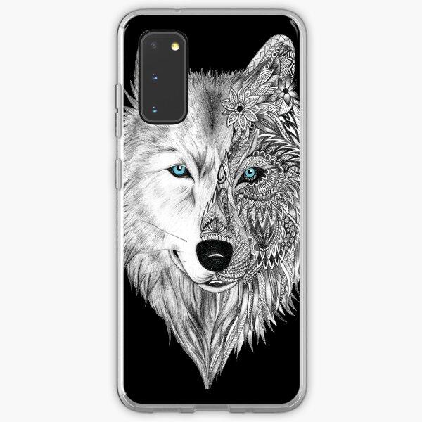 The White Wolf Mandala- Black Samsung Galaxy Soft Case