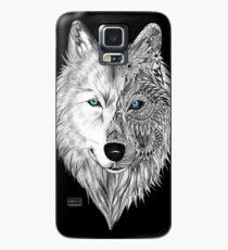 Der weiße Wolf Mandala - Schwarz Hülle & Skin für Samsung Galaxy