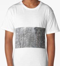 19.3.2018: Trees in Snowfall Long T-Shirt