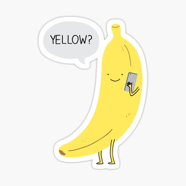 Banana on the phone Sticker