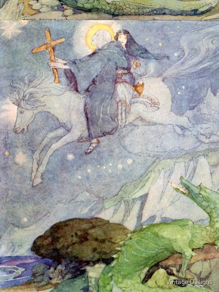 St George und der Drache - Vintage Illustration Anne Anderson von Geekimpact
