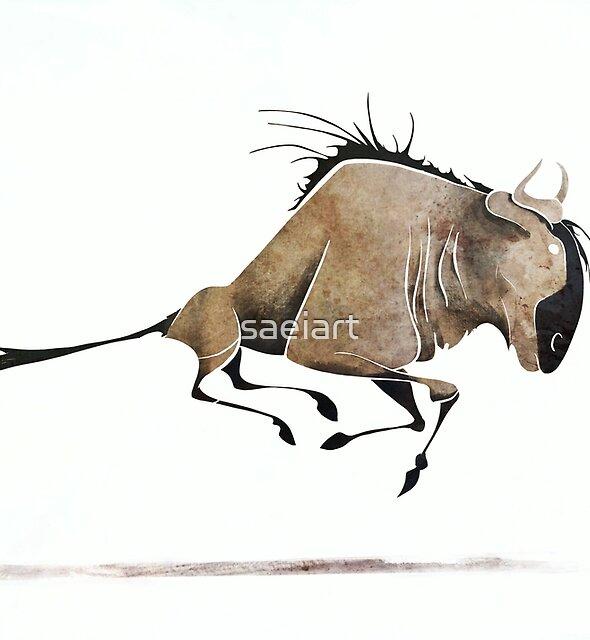 Wildebeest  by saeiart