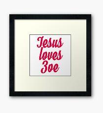 Jesus loves Zoe Framed Print