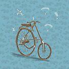 Vintage Bike by Barbara Baumann Illustration